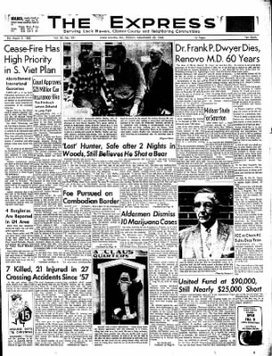 The Express From Lock Haven Pennsylvania On November 29 1968 Page 1 Uncover why lock haven express is the best company for you. newspapers com