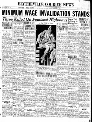 The Courier News from Blytheville, Arkansas on October 12, 1936 · Page 1