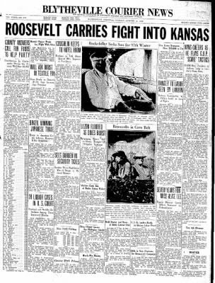 The Courier News from Blytheville, Arkansas on October 13, 1936 · Page 1