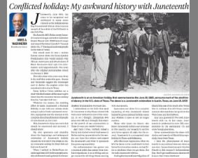 Opinion commentary on the complex history of Juneteenth, how it came to be, and its holiday status