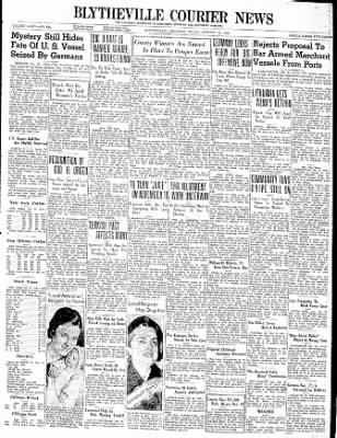 The Courier News from Blytheville, Arkansas on October 27, 1939 · Page 1