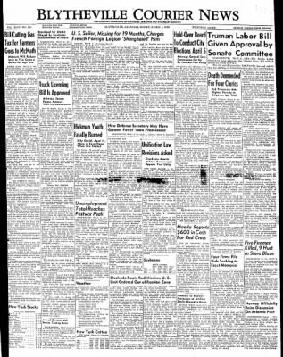 The Courier News from Blytheville, Arkansas on March 4, 1949 · Page 1