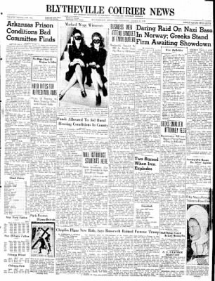 The Courier News from Blytheville, Arkansas on March 6, 1941 · Page 1