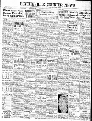 The Courier News from Blytheville, Arkansas on October 30, 1939 · Page 1
