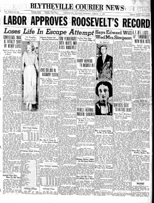 The Courier News from Blytheville, Arkansas on October 17, 1936 · Page 1
