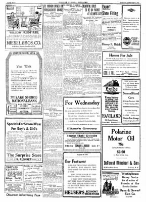 Dunkirk Evening Observer from Dunkirk, New York on September 5, 1922 · Page 4
