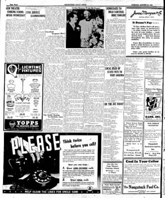 Naugatuck Daily News from Naugatuck, Connecticut on August 25, 1942 · Page 4