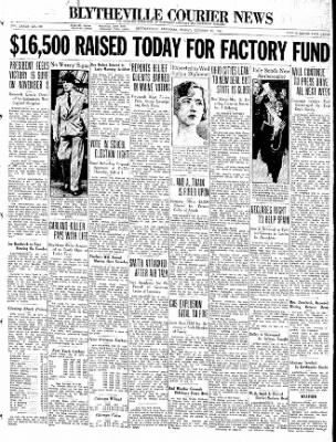 The Courier News from Blytheville, Arkansas on October 23, 1936 · Page 1