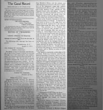 The official Panama Canal newspaper reports on the opening of the canal to traffic