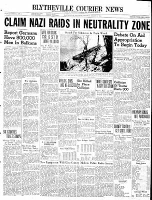 The Courier News from Blytheville, Arkansas on March 18, 1941 · Page 1