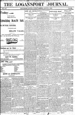 Logansport Pharos-Tribune from Logansport, Indiana on August 2, 1896 · Page 1