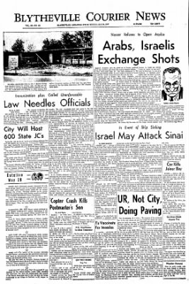 The Courier News from Blytheville, Arkansas on May 29, 1967 · Page 1