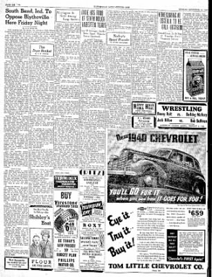 The Courier News from Blytheville, Arkansas on November 13, 1939 · Page 6