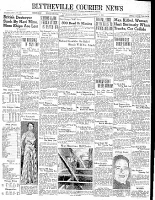 The Courier News from Blytheville, Arkansas on November 14, 1939 · Page 1