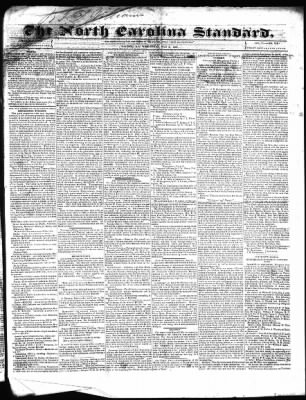 The Weekly Standard from Raleigh, North Carolina on July 3, 1839 · Page 1