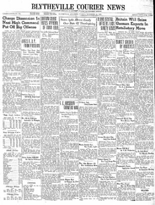 The Courier News from Blytheville, Arkansas on November 21, 1939 · Page 1