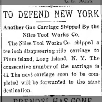 - DEFEND'NEW YORK nother Gun Carriage Shipped By...