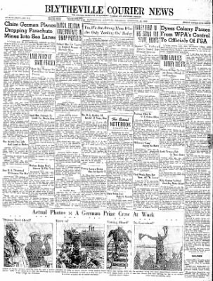 The Courier News from Blytheville, Arkansas on November 23, 1939 · Page 1