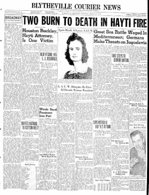 The Courier News from Blytheville, Arkansas on March 29, 1941 · Page 1