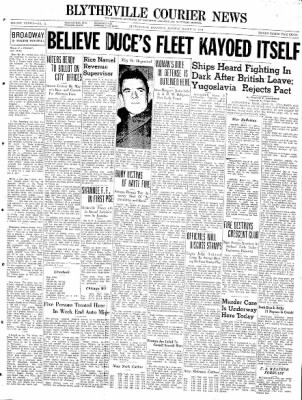 The Courier News from Blytheville, Arkansas on March 31, 1941 · Page 1