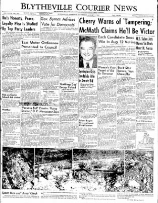 The Courier News from Blytheville, Arkansas on August 6, 1952 · Page 1
