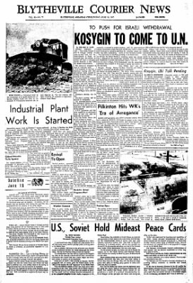The Courier News from Blytheville, Arkansas on June 16, 1967 · Page 1
