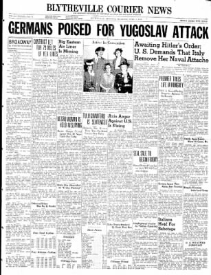 The Courier News from Blytheville, Arkansas on April 3, 1941 · Page 1