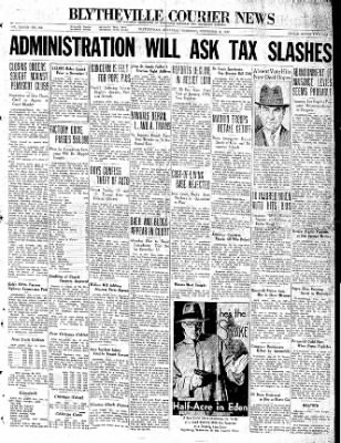 The Courier News from Blytheville, Arkansas on November 12, 1936 · Page 1
