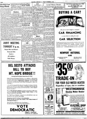 Newport Daily News from Newport, Rhode Island on November 2, 1956 · Page 4