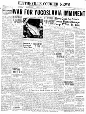 The Courier News from Blytheville, Arkansas on April 5, 1941 · Page 1