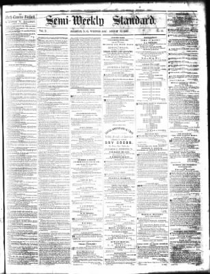 Semi Weekly Standard From Raleigh North Carolina On August 15 1860