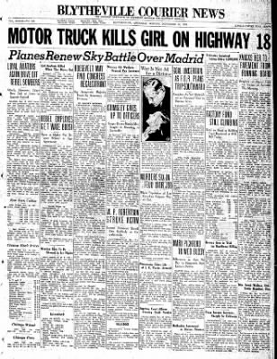 The Courier News from Blytheville, Arkansas on November 16, 1936 · Page 1