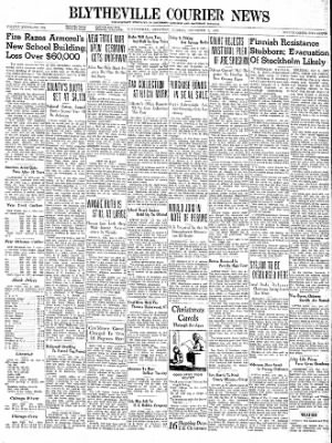The Courier News from Blytheville, Arkansas on December 5, 1939 · Page 1
