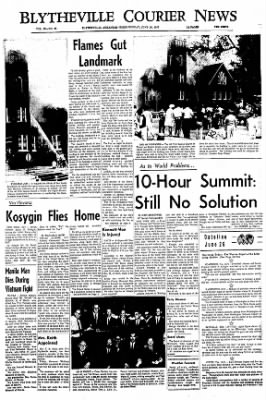 The Courier News from Blytheville, Arkansas on June 26, 1967 · Page 1