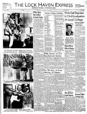 The Express From Lock Haven Pennsylvania On May 20 1950 Page 1 There is currently a 3.0.1 version released on oct 30. newspapers com