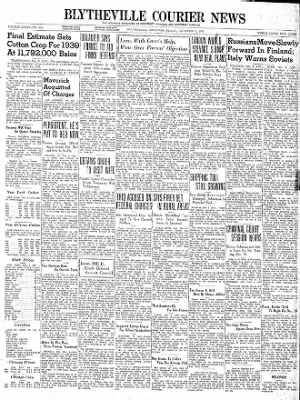 The Courier News from Blytheville, Arkansas on December 8, 1939 · Page 1
