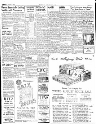 The Courier News from Blytheville, Arkansas on August 7, 1952 · Page 5