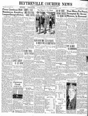 The Courier News from Blytheville, Arkansas on December 11, 1939 · Page 1