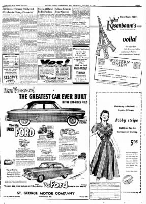 Cumberland Evening Times from Cumberland, Maryland on January 31, 1952 · Page 3
