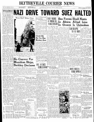 The Courier News from Blytheville, Arkansas on April 18, 1941 · Page 1
