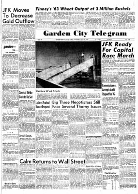 Garden City Telegram from Garden City, Kansas on July 18, 1963 · Page 1