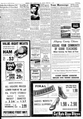 Cumberland Evening Times from Cumberland, Maryland on February 1, 1952 · Page 13