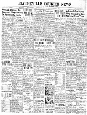 The Courier News from Blytheville, Arkansas on December 15, 1939 · Page 1