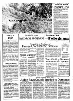 Garden City Telegram from Garden City, Kansas on November 12, 1977 · Page 1