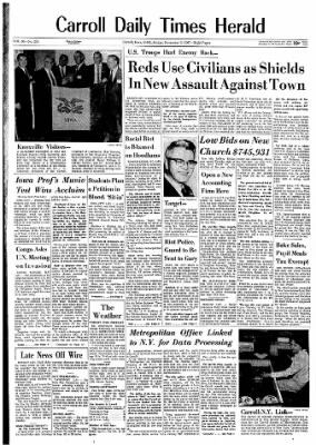 Carrol Daily Times Herald from Carroll, Iowa on November 3, 1967 · Page 1