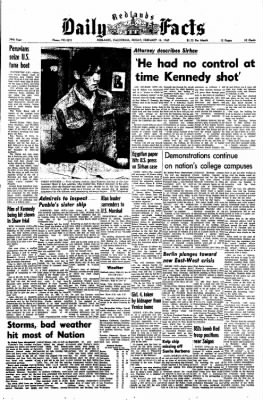 Redlands Daily Facts from Redlands, California on February 14, 1969 · Page 1