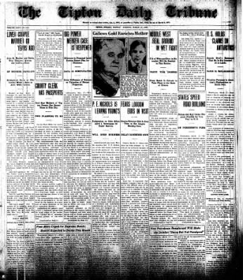 The Tipton Daily Tribune from Tipton, Indiana on March 17, 1930 · Page 1