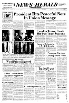 Panama City News-Herald from Panama City, Florida on September 11, 1973 · Page 1
