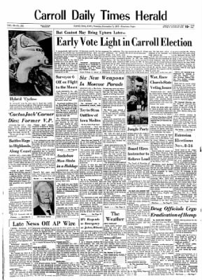 Carrol Daily Times Herald from Carroll, Iowa on November 7, 1967 · Page 1