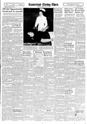 Cumberland Evening Times from Cumberland, Maryland on February 11, 1952 · Page 9